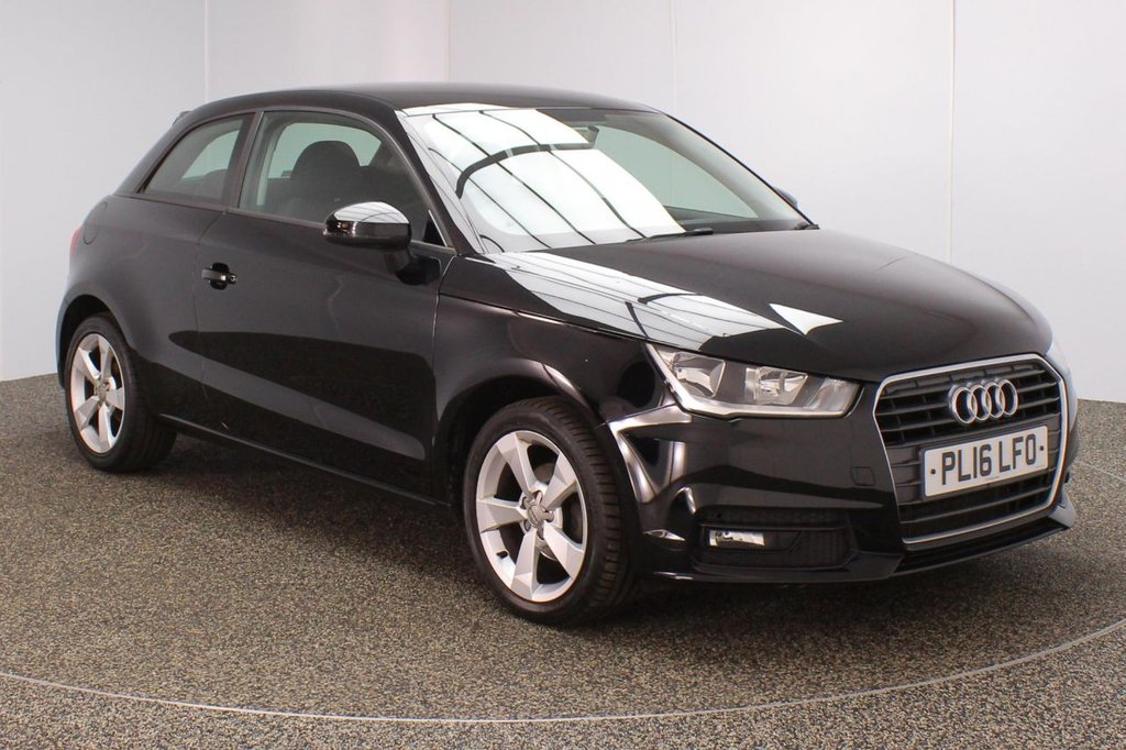 USED 2016 16 AUDI A1 1.0 TFSI SPORT 3DR 1 OWNER 93 BHP FULL AUDI SERVICE HISTORY + FREE 12 MONTHS ROAD TAX + BLUETOOTH + MULTI FUNCTION WHEEL + AIR CONDITIONING + DAB RADIO + ELECTRIC WINDOWS + ELECTRIC/HEATED DOOR MIRRORS + 16 INCH ALLOY WHEELS