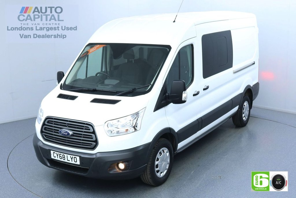 USED 2018 68 FORD TRANSIT 2.0 350 Trend L3 H2 130 BHP 6 Seats Combi Euro 6 Low Emission Finance Available Online | Air Con | F-R Parking sensors