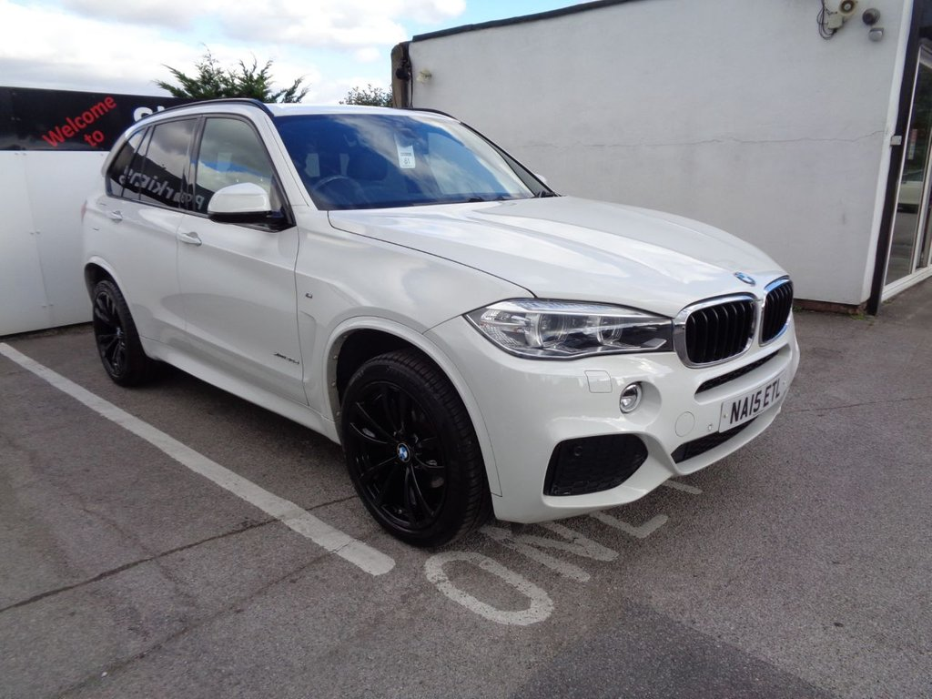USED 2015 15 BMW X5 3.0 XDRIVE30D M SPORT 5d 255 BHP 4x4 awd 4wd Satellite Navigation  leather trim  climate control  parking sensors  privacy glass  full service history