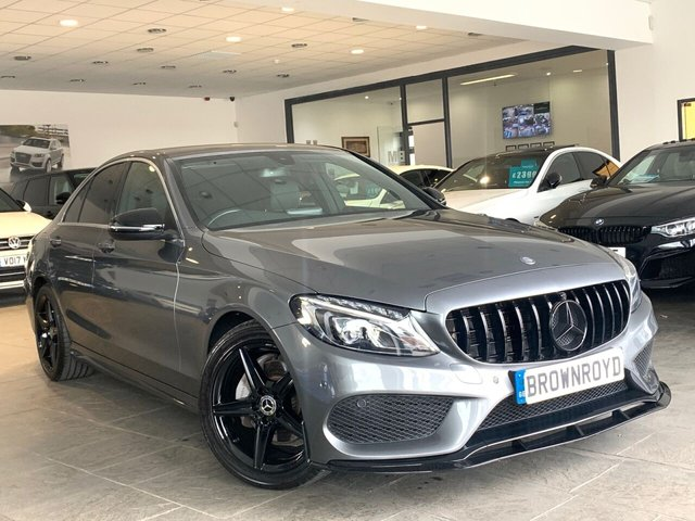 USED 2017 17 MERCEDES-BENZ C-CLASS 2.1 C 220 D AMG LINE 4d 170 BHP BRM BODY STYLING+SAT NAV