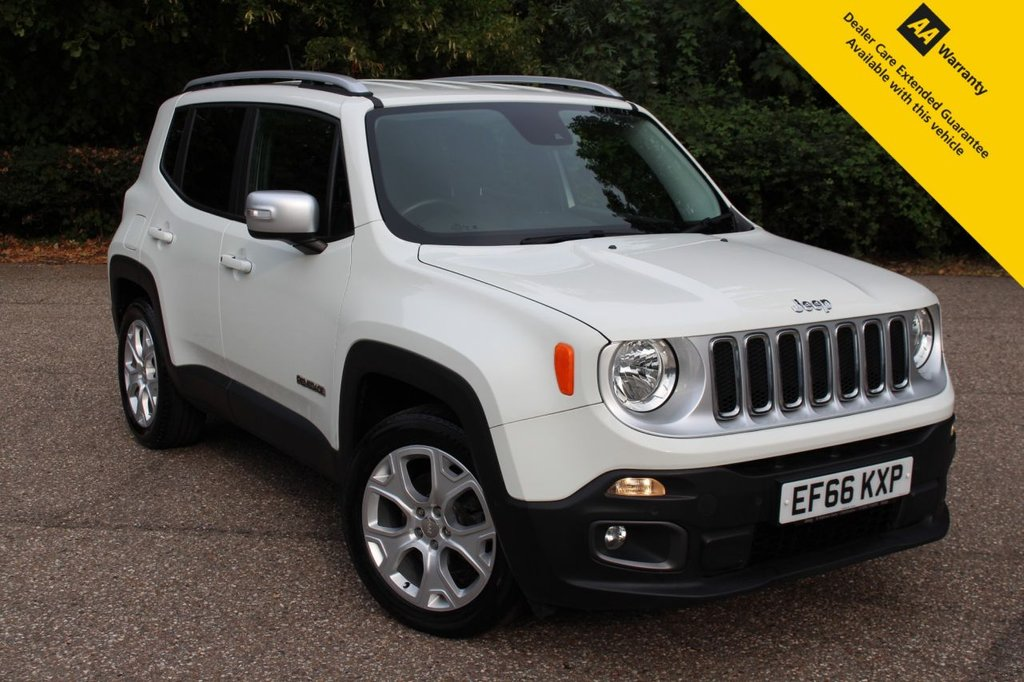 USED 2016 66 JEEP RENEGADE 1.6 M-JET LIMITED 5d 118 BHP