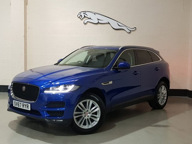 "USED 2017 67 JAGUAR F-PACE 2.0 PORTFOLIO AWD 5d 238 BHP 1 Owner/Pan Roof/Nav/Heated Leather/Camera/19""Alloys"