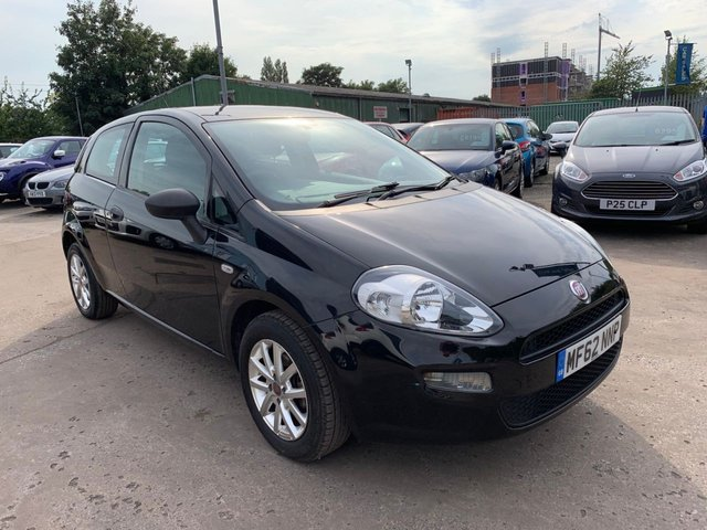 USED 2012 62 FIAT PUNTO 1.2 POP 3d 69 BHP FREE 12 MONTH AA RECOVERY INCL