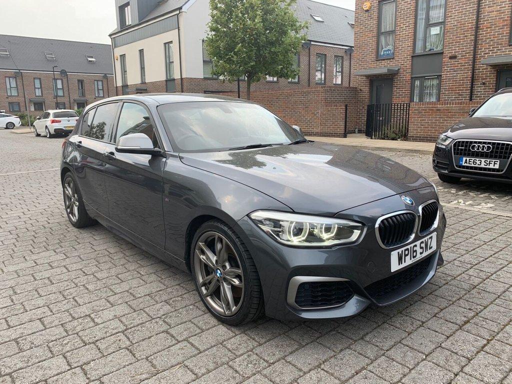USED 2016 16 BMW 1 SERIES 3.0L M135I 5d 322 BHP XENONS, RED LEATHERS, SATNAV, 6M WARRANTY,  FINANCE