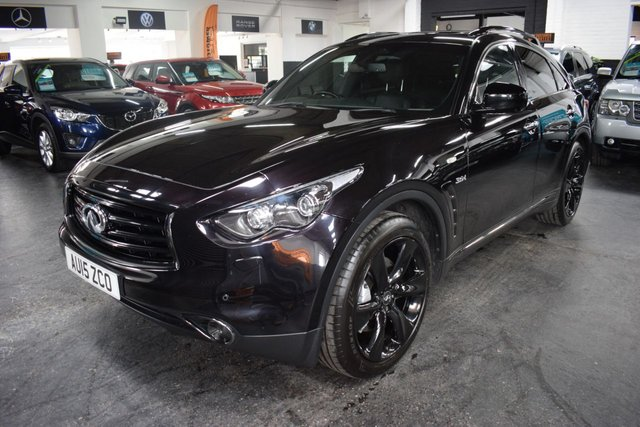 USED 2015 15 INFINITI QX70 3.0 S DESIGN D 5d 235 BHP STUNNING CONDITION - RARE S DESIGN SPEC - 4 STAMPS TO 57K - QUILTED LEATHER - SAT NAV - HEATED / COOLED SEATS - SUNROOF
