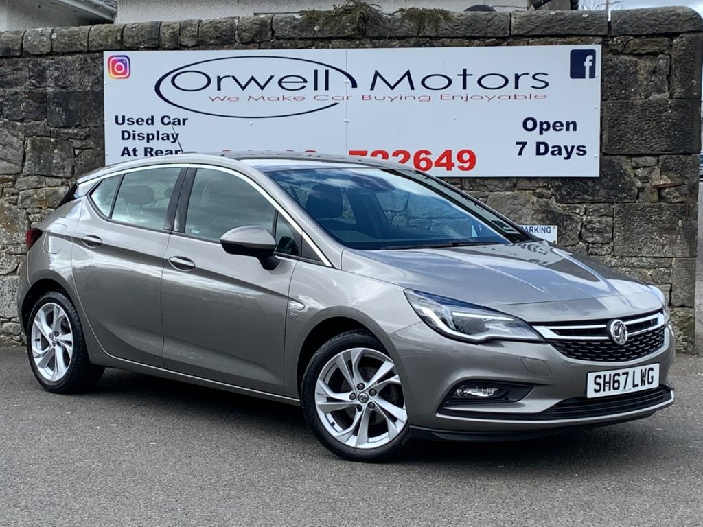 USED 2017 67 VAUXHALL ASTRA 1.4 SRI 5d 99 BHP FULL VAUXHALL SERVICE HISTORY+1 OWNER+APPLE CAR PLAY+LOW MILEAGE