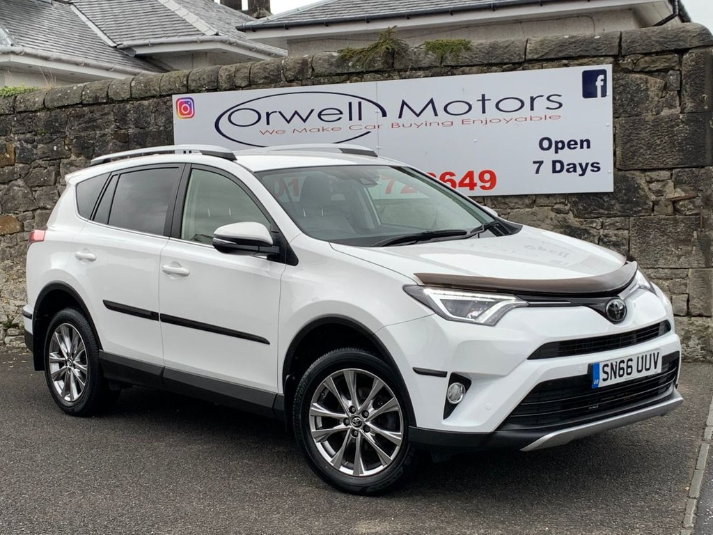 USED 2016 66 TOYOTA RAV4 2.0 D-4D EXCEL TSS 5d 143 BHP FULL TOYOTA SERVICE HISTORY+SATELLITE NAVIGATION+REAR REVERSE CAMERA+CRUISE CONTROL+TWO-TONE LEATHER+HEATED FRONT SEATS