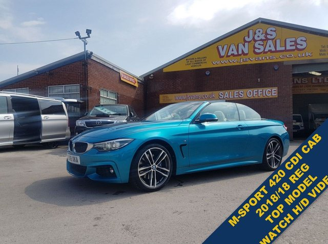USED 2018 18 BMW 4 SERIES  420D M SPORT  188 BHP CAB HARD ROOF CAR SUPER LOOKING M SPORT CAB DIESEL LOW MLS