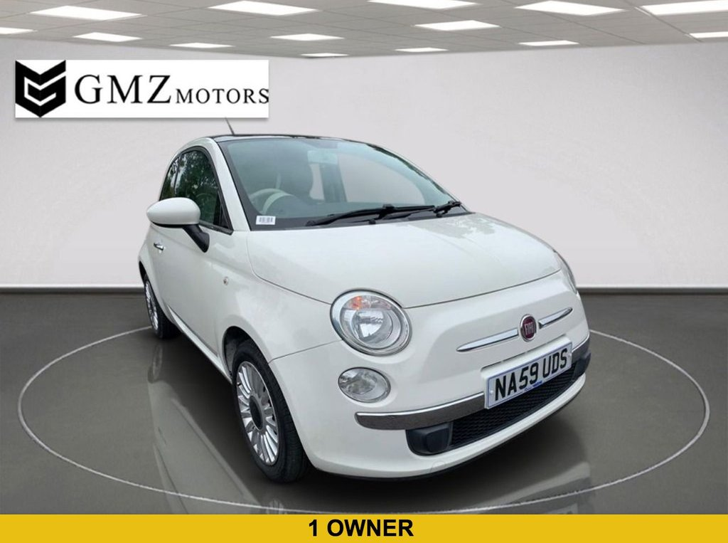 USED 2009 59 FIAT 500 1.2 LOUNGE 3d 69 BHP 1 OWNER FROM NEW | FULL SERVICE HISTORY | 1 YEAR WARRANTY