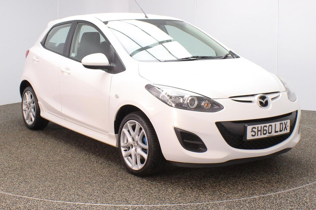 USED 2010 60 MAZDA 2 1.3 TAMURA 5DR 83 BHP SERVICE HISTORY + £30 12 MONTHS ROAD TAX + MULTI FUNCTION WHEEL + AIR CONDITIONING + RADIO/CD/AUX + ELECTRIC WINDOWS + ELECTRIC/HEATED/FOLDING DOOR MIRRORS + 16 INCH ALLOY WHEELS