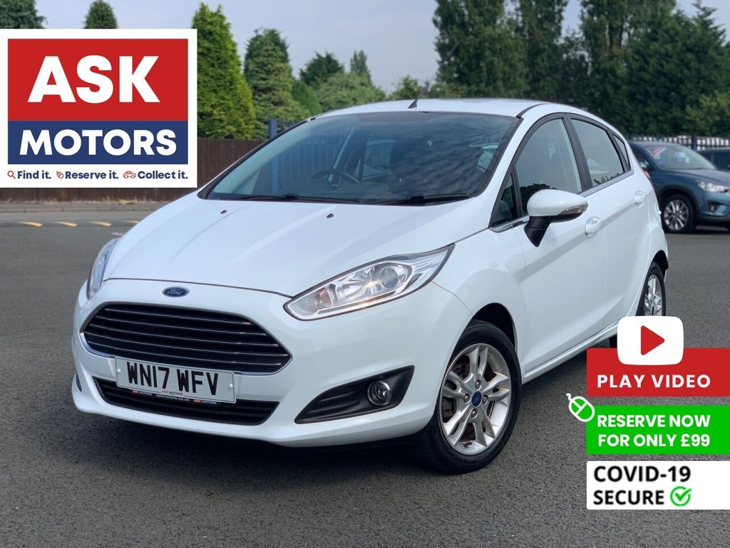 USED 2017 17 FORD FIESTA 1.0 ZETEC 5d 99 BHP SATNAV 2 REG KEEPERS SPARE KEY FREE ROAD TAX