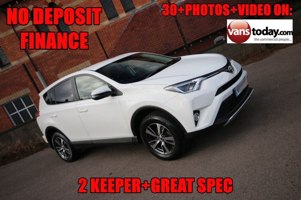 USED 2016 16 TOYOTA RAV4 2.0 D-4D BUSINESS EDITION 5d 143 BHP NO DEPOSIT FINANCE + SAT NAV + R/CAM +