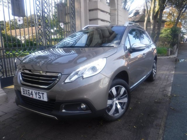 USED 2014 64 PEUGEOT 2008 1.6 ALLURE 5d 120 BHP PART LEATHER*CRUISE*REAR PS*SERVICE HISTORY*BLUETOOTH