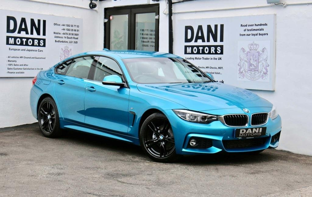 USED 2017 17 BMW 4 SERIES 2.0 420d M Sport Gran Coupe (s/s) 5dr 1 OWNER*SATNAV*PARKING AID
