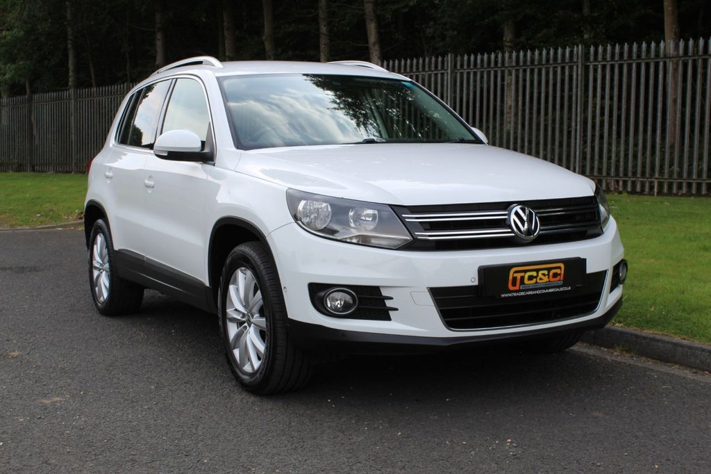 USED 2014 64 VOLKSWAGEN TIGUAN 2.0 MATCH TDI BLUEMOTION TECHNOLOGY 4MOTION 5d 139 BHP A CLEAN, LOW OWNER EXAMPLE WITH COMPREHENSIVE SERVICE HISTORY INCLUDING A TIMING BELT CHANGE IN 2019!!!