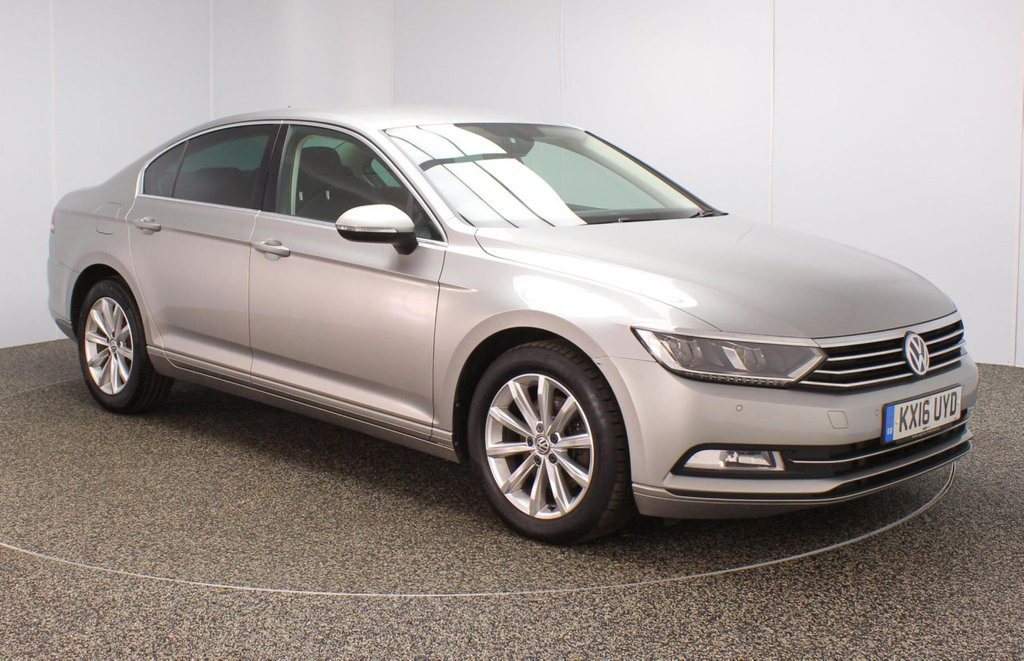 USED 2016 16 VOLKSWAGEN PASSAT 1.6 SE BUSINESS TDI BLUEMOTION TECH DSG 4DR 1 OWNER AUTO 119 BHP FULL SERVICE HISTORY + £20 12 MONTHS ROAD TAX + SATELLITE NAVIGATION + PARKING SENSOR + BLUETOOTH + CRUISE CONTROL + MULTI FUNCTION WHEEL + AIR CONDITIONING + PRIVACY GLASS + PART ELECTRIC DRIVER SEAT + DAB RADIO + AUX/USB/SD PORTS + ELECTRIC WINDOWS + ELECTRIC/HEATED/FOLDING DOOR MIRRORS + 17 INCH ALLOY WHEELS