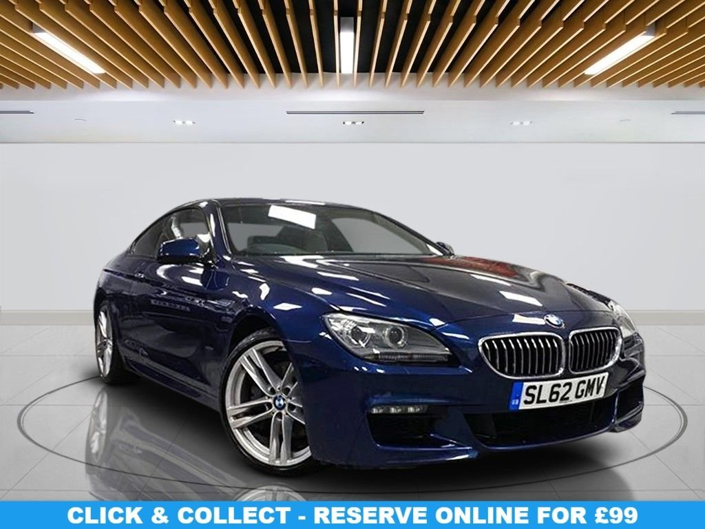 """USED 2012 62 BMW 6 SERIES 3.0 640D M SPORT 2d 309 BHP Navigation System, Leather Seats, 20"""" Alloy Wheels, Parking Sensor(s), Climate Control"""