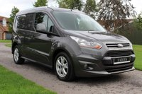 USED 2015 64 FORD TRANSIT CONNECT 1.6 200 LIMITED P/V 114 BHP NO VAT LIMITED TOP SPEC FULL HISTORY WARRANTY INCLUDED DARK GREY