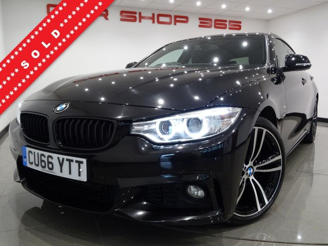 USED 2016 66 BMW 4 SERIES 2.0 420D (188 BHP) M SPORT GRAN COUPE AUTO 5DR + NAV + 3,270 POUNDS OF EXTRAS + HEATED LEATHERS + CRUISE + 19 S + XENONS..LEDS + PRIVACY + POWER BOOT 19 S+PARK+XENONS+H-LEATHER+NAV+CRUISE+CLIMATE+MEDIA