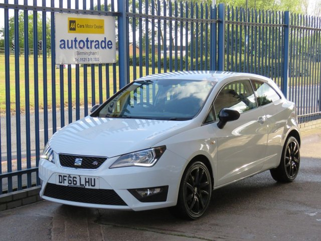 USED 2016 66 SEAT IBIZA 1.2 TSI FR TECHNOLOGY 3d 109 BHP SAT NAV, APPLE CAR PLAY ANDROID AUTO, A/C ULEZ COMPLIANT 1 OWNER, SERVICE HISTORY, SAT NAV, AIR CON, BLUETOOTH, USB, DAB RADIO, APPLE CAR PLAY, ANDROID AUTO