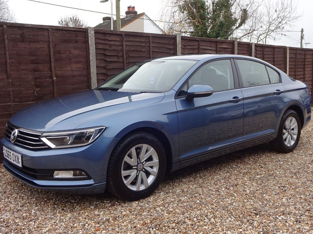 USED 2015 65 VOLKSWAGEN PASSAT 2.0 TDi S BLUEMOTION TECHNOLOGY SALOON *LOOK ONLY 1 OWNER FROM NEW* *SERVICE HISTORY*