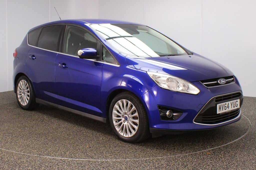 USED 2014 64 FORD C-MAX 1.6 TITANIUM TDCI 5DR 114 BHP SERVICE HISTORY + £30 12 MONTHS ROAD TAX + PARKING SENSOR + BLUETOOTH + CRUISE CONTROL + CLIMATE CONTROL + MULTI FUNCTION WHEEL + PRIVACY GLASS + DAB RADIO + RADIO/CD/USB + ELECTRIC WINDOWS + ELECTRIC HEATED DOOR MIRRORS + 17 INCH ALLOY WHEELS