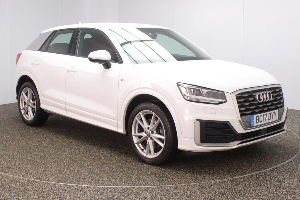 USED 2017 17 AUDI Q2 1.6 TDI S LINE 5DR 1 OWNER AUTO 114 BHP FULL SERVICE HISTORY + HALF LEATHER SEATS + SATELLITE NAVIGATION + PARKING SENSOR + BLUETOOTH + CRUISE CONTROL + MULTI FUNCTION WHEEL + AIR CONDITIONING + XENON HEADLIGHTS + DAB RADIO + AUX/USB/SD PORTS + ELECTRIC WINDOWS + ELECTRIC/HEATED DOOR MIRRORS + 18 INCH ALLOY WHEELS