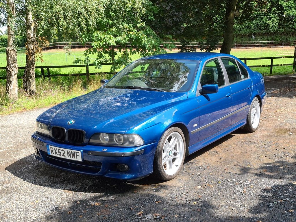 USED 2002 52 BMW 5 SERIES 3.0 530I SPORT 4d 228 BHP +++E39 TOPAZ BLUE+++