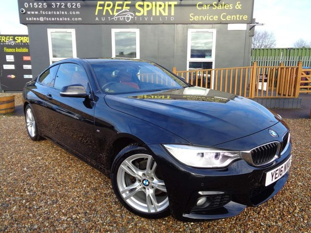 USED 2016 16 BMW 4 SERIES 2.0 420d M Sport 2dr Sat Nav, E Roof, Leather, DAB