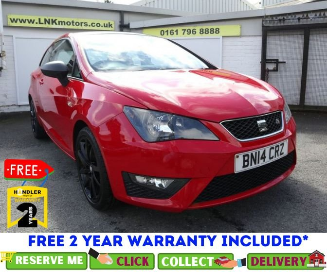 USED 2014 14 SEAT IBIZA 1.2 TSI FR 3dr *CLICK & COLLECT OR DELIVERY