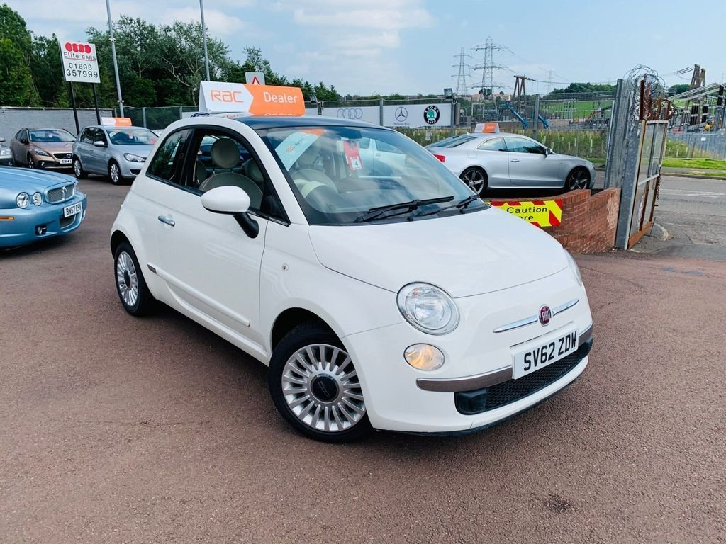 USED 2012 62 FIAT 500 1.2 LOUNGE 3d 69 BHP Drive away today..