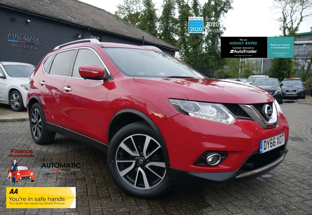 USED 2016 66 NISSAN X-TRAIL 1.6 DCI TEKNA XTRONIC 5d 130 BHP 2 KEYS 1 OWNER ULEZ BLUETOOTH, FRONT AND REAR CAMERAS, CLIMATE CONTROL, CRUISE CONTROL, SAT NAV