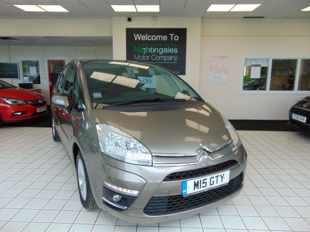 """USED 2012 62 CITROEN C4 PICASSO 1.6 EDITION HDI 5d 110 BHP CITROEN C4 PICASSO 1.6 HDI EDITION COMES AS A ONE OWNER + GOOD SERVICE HISTORY + JULY 2021 MOT + 5 SEATS + RDS RADIO/CD PLAYER + CRUISE CONTROL + AIR CONDITIONING + ELECTRIC WINDOWS + CENTRAL LOCKING + DRIVERS ARMREST + REAR PARKING SENSORS + FRONT FOG LIGHTS + 16"""" ALLOYS + ABS + ELECTRIC HEATED MIRRORS + LED DAYTIME RUNNING LIGHTS + POWER STEERING + HILL START ASSIST + TRACTION CONTROL + IDEAL FAMILY CAR"""