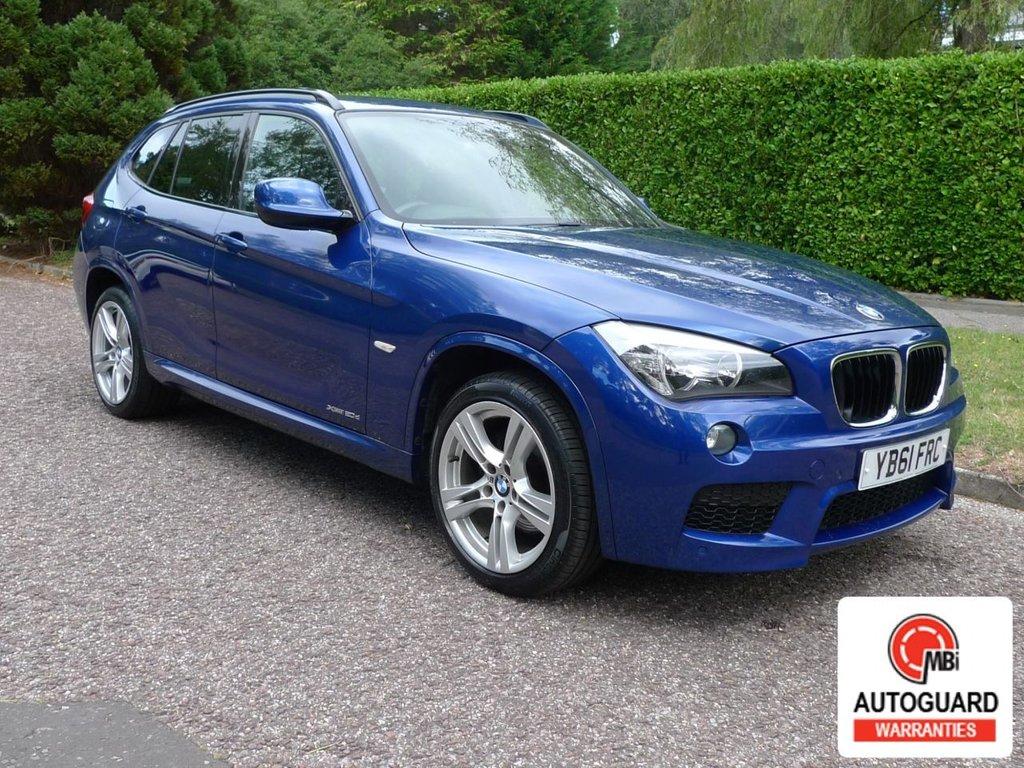 USED 2012 61 BMW X1 2.0 XDRIVE20D M SPORT 5d 174 BHP 6  MTH NATIONAL WARRANTY.