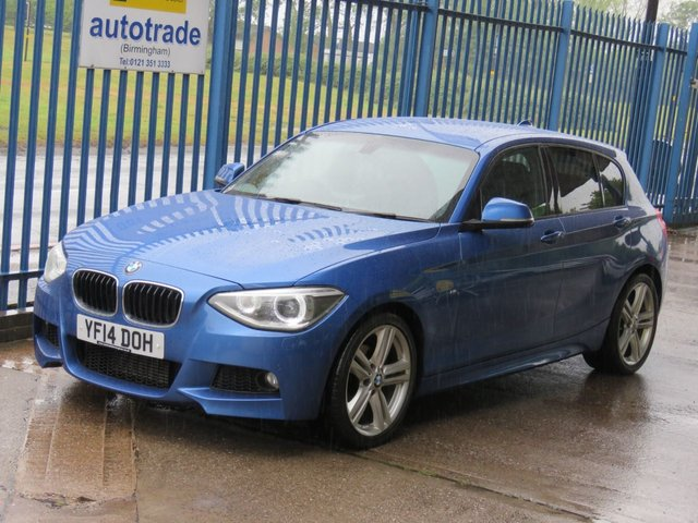 USED 2014 14 BMW 1 SERIES 2.0 116D M SPORT 5dr 114 Alcantara DAB Cruise Privacy Front & rear park sensors Finance arranged Part exchange available Open 7 days