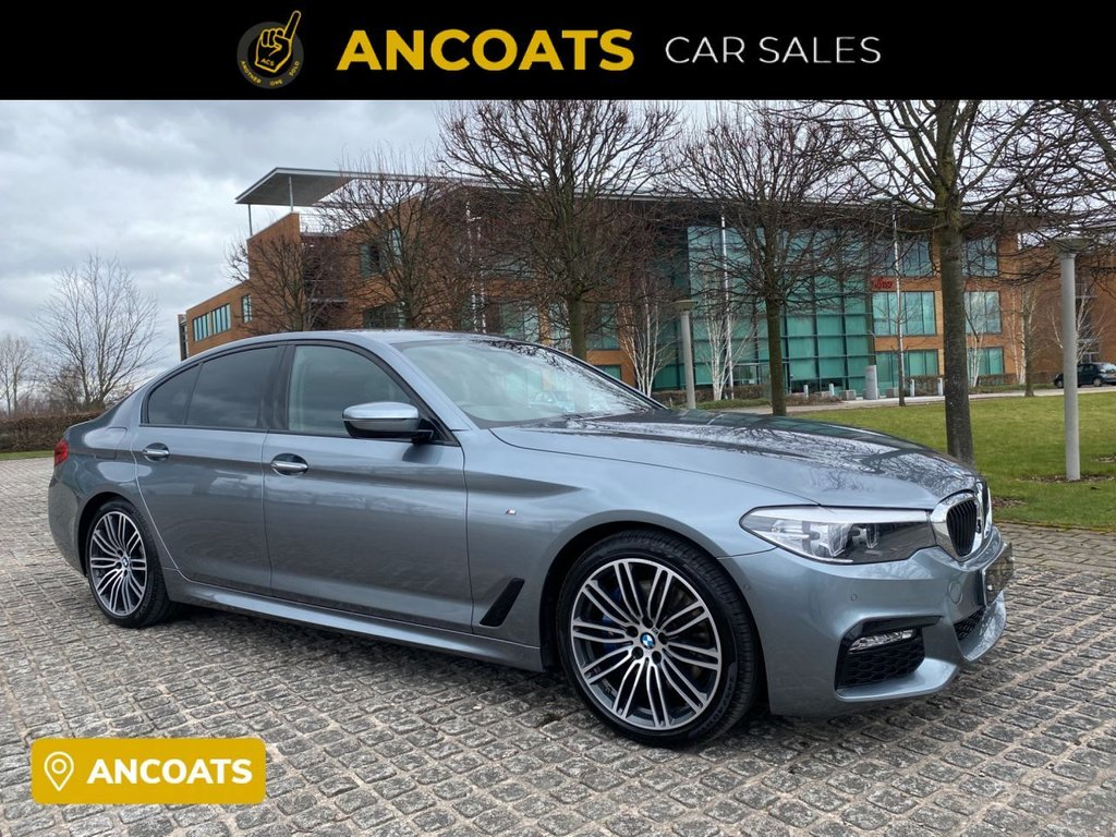USED 2017 17 BMW 5 SERIES 3.0 530D M SPORT 4d AUTO 261 BHP 1  Keeper+PCP+HP Finance Available+Mot+ Full Heated Leather Seat With Memory+Service History+2 Keys+Full Mot+Xenon+front and rear parking sensorts+Dab Radio+Pro Sat-Nav+Free Nationwide Delivery+Nation Warranty
