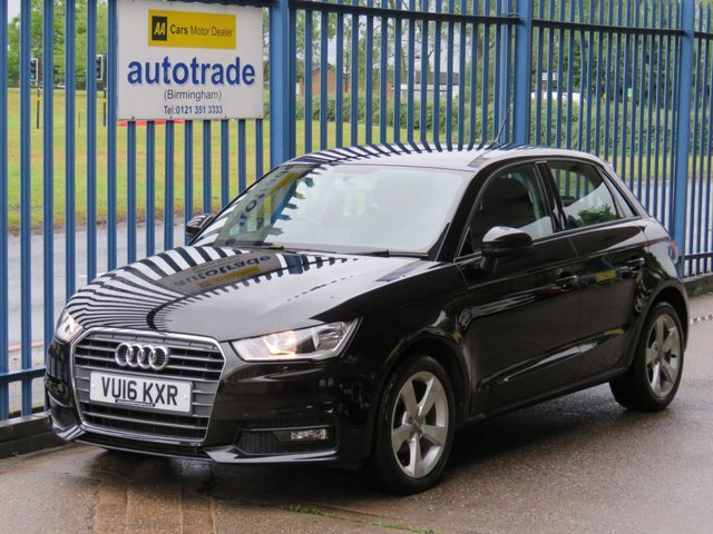 USED 2016 16 AUDI A1 1.0 SPORTBACK TFSI SPORT 5d 93 BHP. ULEZ COMPLIANT, DAB, BLUETOOTH REAR PARKING SENSORS, DAB RADIO, BLUETROOTH AND VOICE CONTROL, AIR CON, ALLOYS, FRONT AND REAR ELECTRIC WINDOWS