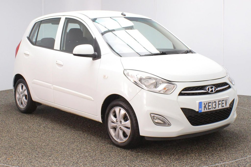 USED 2013 13 HYUNDAI I10 1.2 ACTIVE 5DR 85 BHP FULL HYUNDAI SERVICE HISTORY + £20 12 MONTHS ROAD TAX + PARKING SENSOR + AIR CONDITIONING + RADIO/CD + AUX/USB PORTS + ELECTRIC WINDOWS + ELECTRIC MIRRORS + 14 INCH ALLOY WHEELS