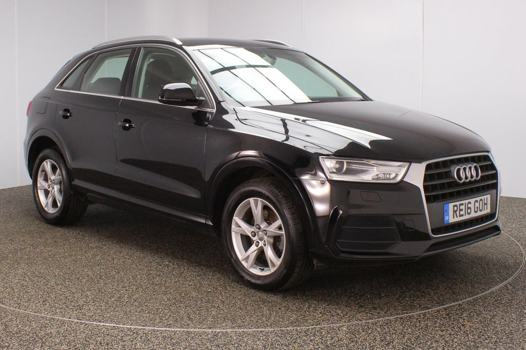 USED 2016 16 AUDI Q3 2.0 TDI SE 5DR 1 OWNER 148 BHP FULL SERVICE HISTORY + £30 12 MONTHS ROAD TAX + PARKING SENSOR + BLUETOOTH + CLIMATE CONTROL + MULTI FUNCTION WHEEL + DAB RADIO + ELECTRIC WINDOWS + ELECTRIC/HEATED DOOR MIRRORS + 17 INCH ALLOY WHEELS