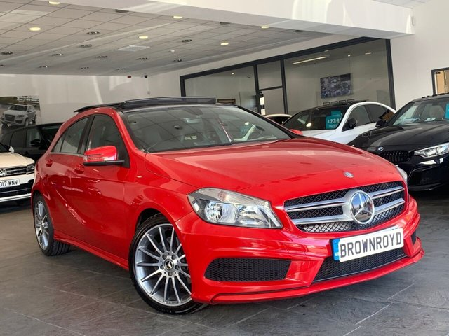 USED 2013 63 MERCEDES-BENZ A-CLASS 2.1 A220 CDI BLUEEFFICIENCY AMG SPORT 5d 170 BHP PANORAMIC SUNROOF+HTD SEATS