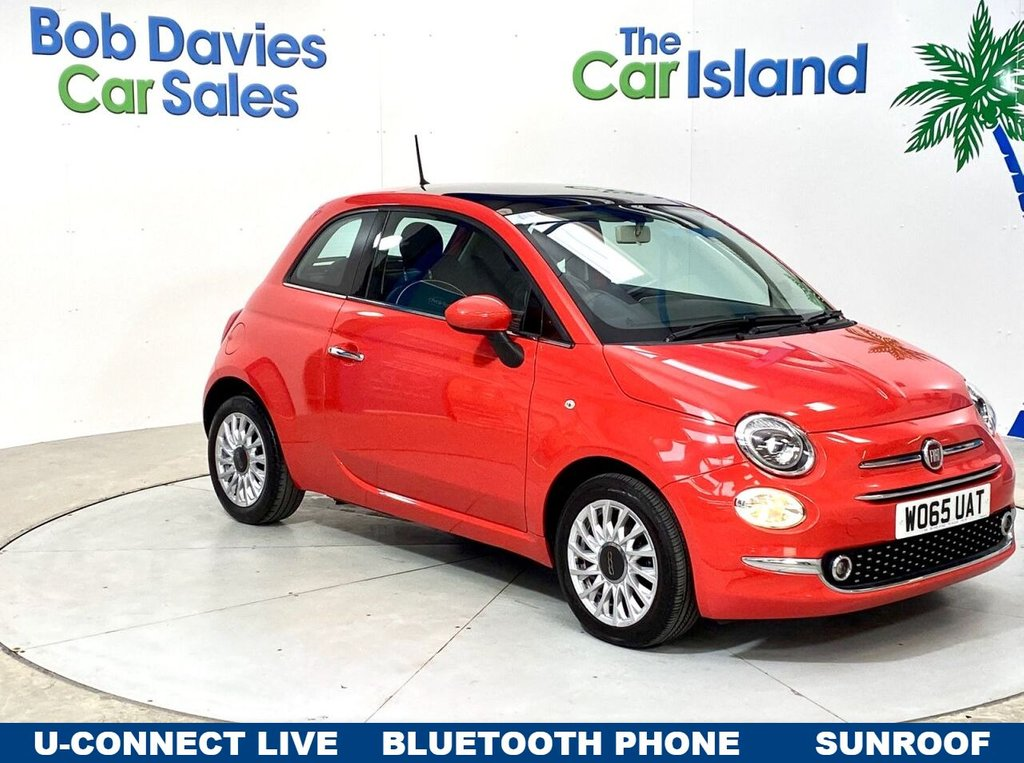 USED 2016 65 FIAT 500 1.2 LOUNGE 3d 69 BHP Panoramic Roof, Lounge spec Glam Coral only 29000 miles!