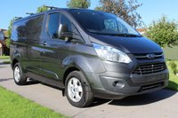 USED 2016 16 FORD TRANSIT CUSTOM 2.2 270 LIMITED LR P/V 124 BHP SAT NAV - LIMITED - GREY - ONE OWNER - FULL HISTORY -