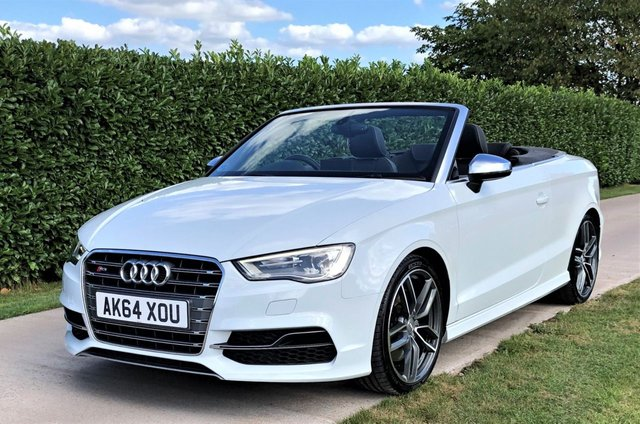 USED 2015 64 AUDI S3 2.0 S3 QUATTRO CONVERTIBLE / CABRIOLET, S-tronic, SAT NAV, AIR SCARF, HEATED SEATS, FULL LEATHER
