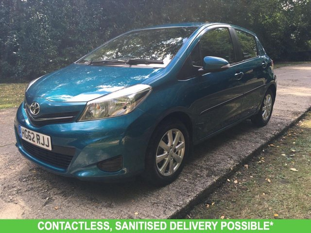 USED 2012 62 TOYOTA YARIS 1.3 VVT-I TR 5d 98 BHP VERY LOW MILEAGE FINANCE ME TODAY-UK DELIVERY POSSIBLE