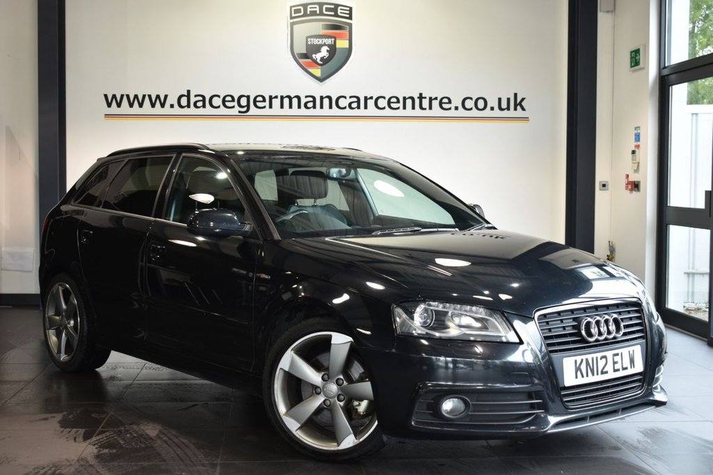 USED 2012 12 AUDI A3 2.0 SPORTBACK TDI BLACK EDITION 5d 170 BHP FULL HISTORY + 1/2 LEATHER + BLUETOOTH + XENONS