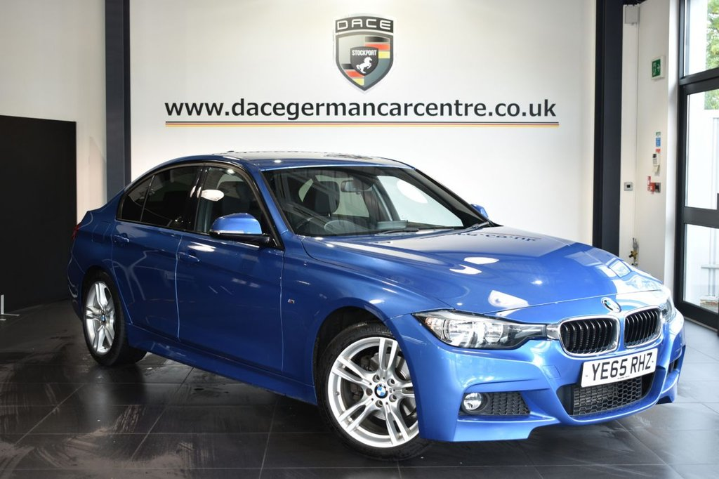 USED 2015 65 BMW 3 SERIES 2.0 320D M SPORT 4DR AUTO 188 BHP Finished in a stunning estoril metallic blue styled with alloys. Upon opening the drivers door you are presented with full leather interior, pro satellite navigation, bluetooth, heated seats, cruise control, dab radio, Light package, LED Fog lights, Automatic air conditioning, rain sensors, parking sensors