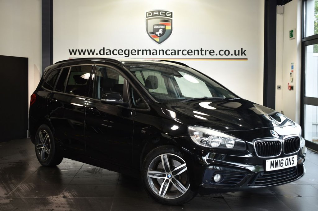 USED 2016 16 BMW 2 Series GRAN TOURER 2.0 220I SPORT 5DR AUTO 189 BHP Finished in a stunning black styled with alloys. Upon opening the drivers door you are presented with anthracite upholstery, full service history, satellite navigation, bluetooth, cruise control, dab radio, 7 seats, Multifunction steering wheel, Automatic air conditioning, park assist, parking sensors