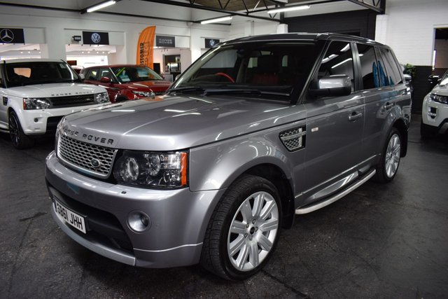USED 2012 61 LAND ROVER RANGE ROVER SPORT 3.0 SDV6 AUTOBIOGRAPHY SPORT 5d 255 BHP RARE AUTOBIOGRAPHY SPORT 3.0 SDV6 255BHP -  - 6 STAMPS TO 71K - RED/BLACK LEATHER - NAV - TV DUAL VIEW - HEATED SEATS - EXT LEATHER