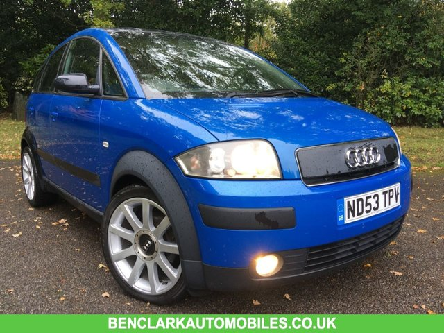 2003 53 AUDI A2 1.6 FSI COLOUR STORM 109 BHP X14 SERVICE STAMPS//ONLY 2 OWNERS//No ULEZ charge due for this vehicle/STUNNING CONDITION
