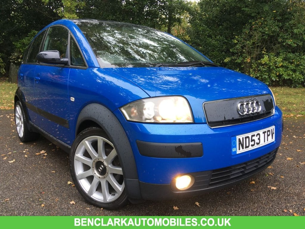 USED 2003 53 AUDI A2 1.6 FSI COLOUR STORM 109 BHP X14 SERVICE STAMPS//ONLY 2 OWNERS//No ULEZ charge due for this vehicle/STUNNING CONDITION NOW IN STUNNING CONDITION FOR ITS YEAR INSIDE AND OUT///WILL COME WITH 12 MONTHS MOT